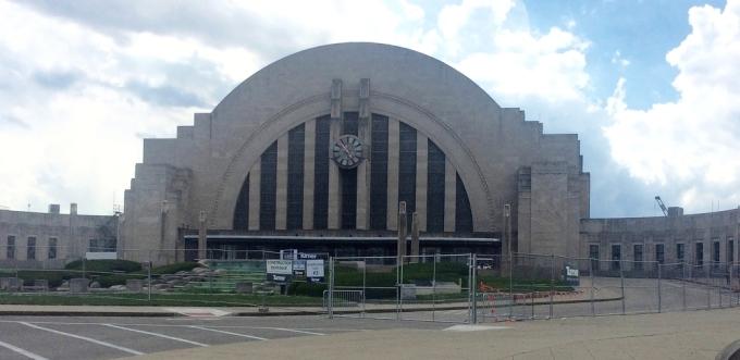 Cincinnati Amtrak station showing renovation beginning  (Photo B. Wing)