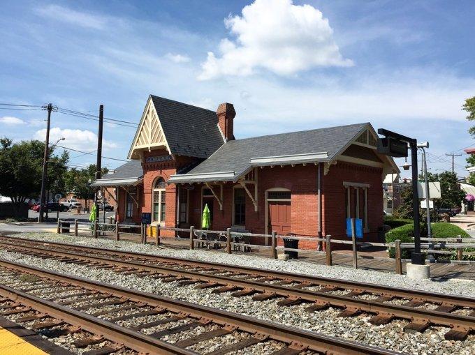 Gaithersburg, Maryland train station.