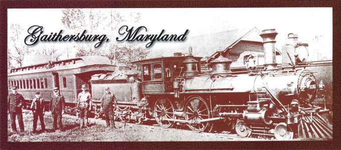 Metropolitan coal burning passenger / freight locomotive in front of Gaithersburg station circa 1890. (Photo courtesy:  Smithsonian Institution )