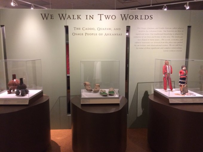 Part of the museum's exhibit on the native people of the Arkansas region.    Photo by B. Wing