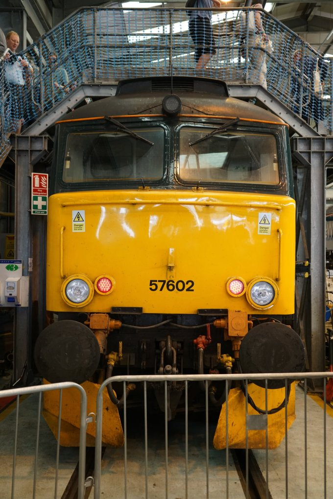 A UK Class 57 diesel electric locomotive. These are essentially rebuilt Class 47 locomotives and a good number are still in everyday service.